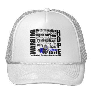 Rectal Cancer Warrior Fight Slogans Hat
