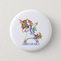 Rectal Cancer Warrior Unbreakable Button