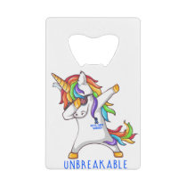 Rectal Cancer Warrior Unbreakable Credit Card Bottle Opener