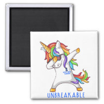 Rectal Cancer Warrior Unbreakable Magnet