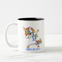 Rectal Cancer Warrior Unbreakable Two-Tone Coffee Mug