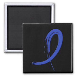 Rectal Cancer's Blue Ribbon A4 2 Inch Square Magnet