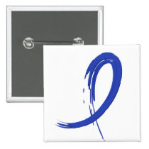 Rectal Cancer's Blue Ribbon A4 Button