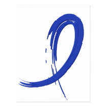 Rectal Cancer's Blue Ribbon A4 Postcard