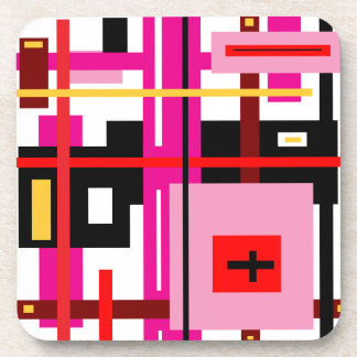 Rectangle Abstract Beverage Coaster