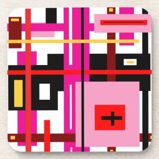 Rectangle Abstract Beverage Coasters