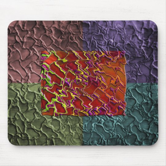 Rectangle Abstract Pieces in 5 Colors Mouse Pad