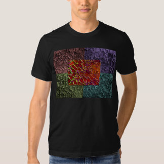 Rectangle Abstract Pieces in 5 Colors T-shirt