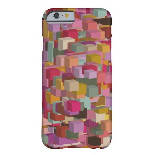 Rectangle Block And Stripe Design In Multicolore Barely There iPhone 6 Case