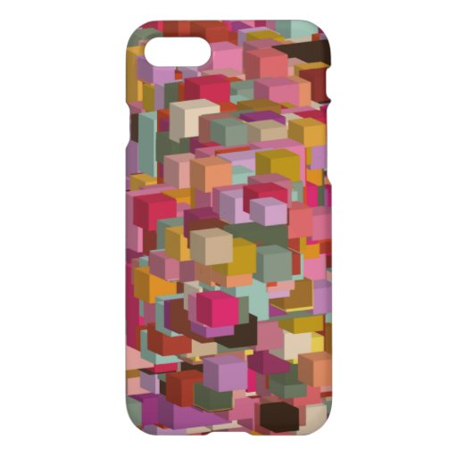 Rectangle Block And Stripe Design In Multicolore iPhone 8/7 Case
