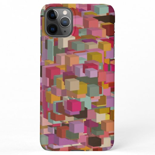 Rectangle Block And Stripe Design In Multicolore iPhone 11Pro Max Case