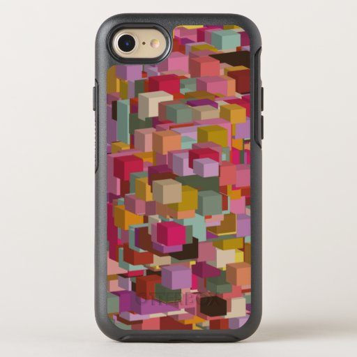 Rectangle Block And Stripe Design In Multicolore OtterBox Symmetry iPhone SE/8/7 Case