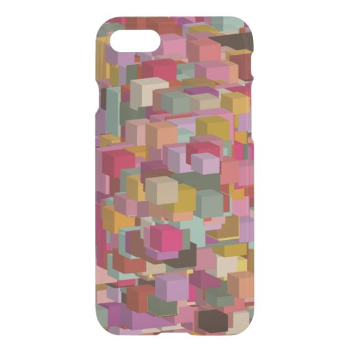 Rectangle Block And Stripe Design In Multicolore iPhone SE/8/7 Case