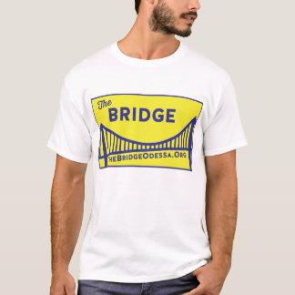 Rectangle Bridge Logo with website - blue/ yellow T-Shirt