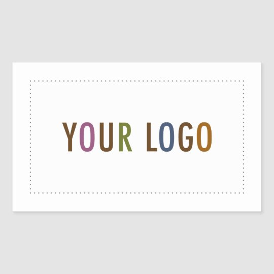 Rectangle business stickers custom company logo