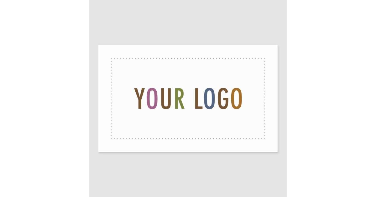 Rectangle business stickers custom company logo zazzle com