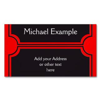 Rectangle Button elegant black + your back & idea Magnetic Business Card