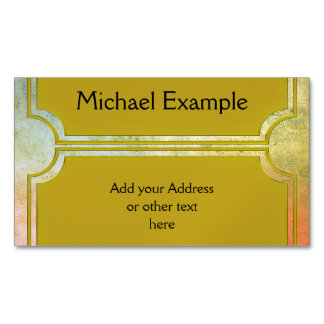 Rectangle Button elegant gold + your back & idea Magnetic Business Card