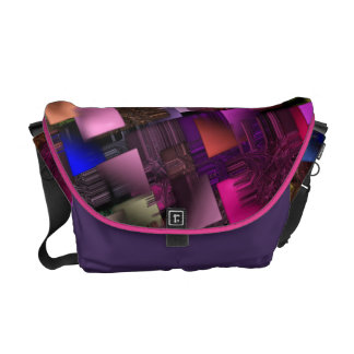Rectangle City Messenger Bags