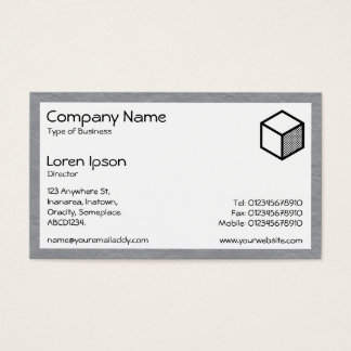 Rectangle - Creased Paper Mid Gray Business Card