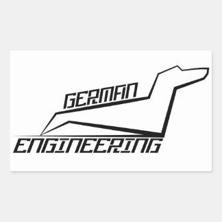 Rectangle Dachshund Stickers - German Engineering