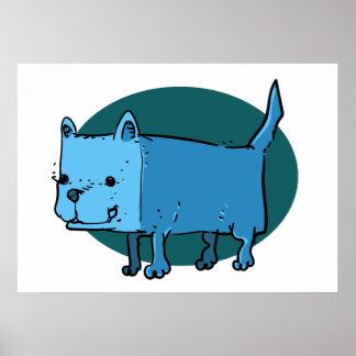 rectangle dog funny cartoon poster