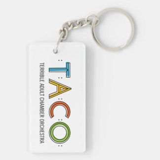 Rectangle (Double-Sided) TACO Keychain