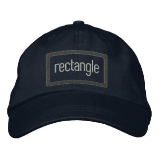 rectangle Embroidered Hat