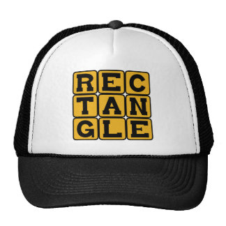 Rectangle Four Sided Polygon Mesh Hat