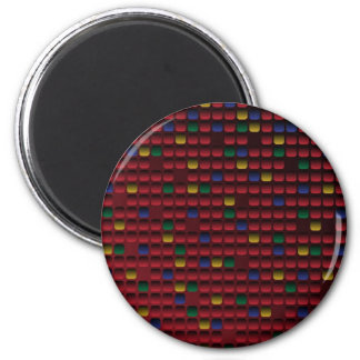 Rectangle Grid 2 Inch Round Magnet