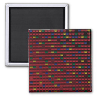 Rectangle Grid 2 Inch Square Magnet