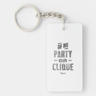 Rectangle Key Chain Acrylic Keychains