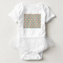 rectangle pattern baby bodysuit