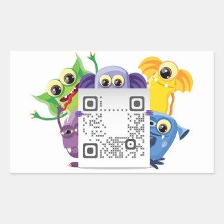 Rectangle QR Code Sticker