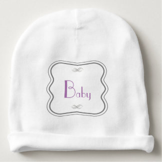 Rectangle Quatrefoil Personalized Baby Beanie