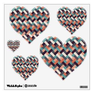 Rectangle Retro Zig Zag Design Wall Sticker