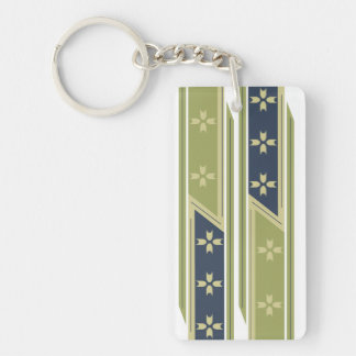 Rectangle (single-sided) WIDE LINE LAYOUT Keychain
