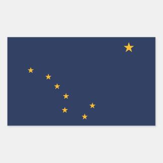 Rectangle sticker with Flag of Alaska, U.S.A.
