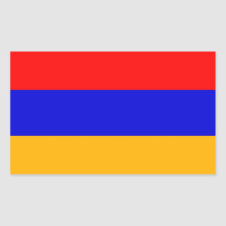 Rectangle sticker with Flag of  Armenia