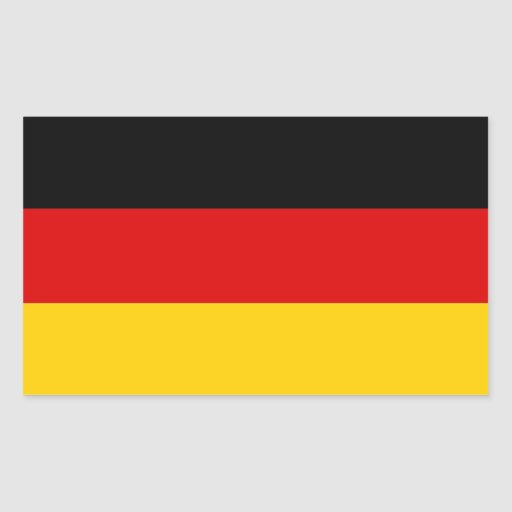 Rectangle sticker with Flag of Germany