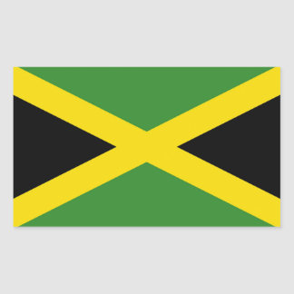 Rectangle sticker with Flag of Jamaica