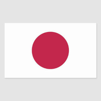 Rectangle sticker with Flag of Japan