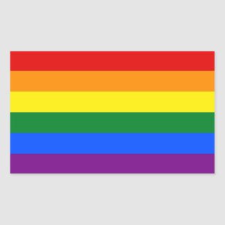 Rectangle sticker with Flag of LGBT