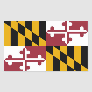 Rectangle sticker with Flag of Maryland, U.S.A.