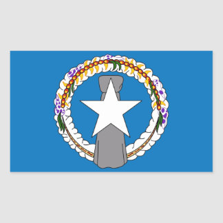 Rectangle sticker with Flag of Northern Mariana