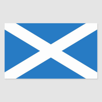 Rectangle sticker with Flag of Scotland
