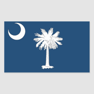 Rectangle sticker with Flag of South Carolina