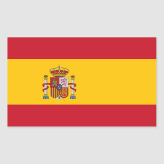 Rectangle sticker with Flag of Spain