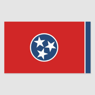 Rectangle sticker with Flag of Tennessee