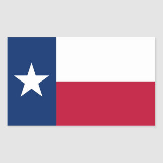 Rectangle sticker with Flag of Texas